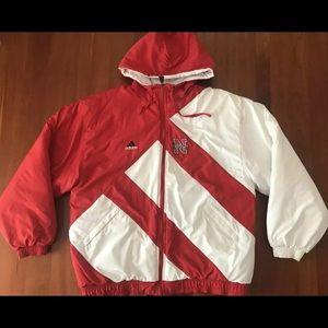 VTG 90s Nebraska Cornhuskers Adidas Puffer Jacket